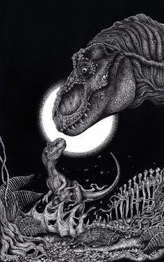 Les plus beaux fan arts de la saga Jurassic Park - Liam Atkin