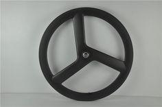 700C полный передний карбоновый 3 спицами дороги или велотрек колеса части велосипеда три довод
