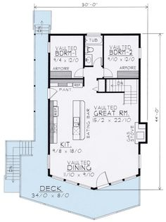 Wide-Open Lakefront Home Plan - 14001DT | 1st Floor Master (would rearrange the bedrooms)