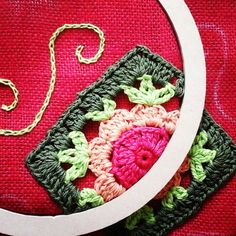 Clutches are coming!!  Embroidery + crochet+sewing