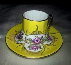 Turkish, coffee Tea Pot Set, Cup And Saucer Set, Yellow Tea Cups, Flower Tea, Turkish Coffee, High Tea, Bone China, Tea Time, Coffee Cups
