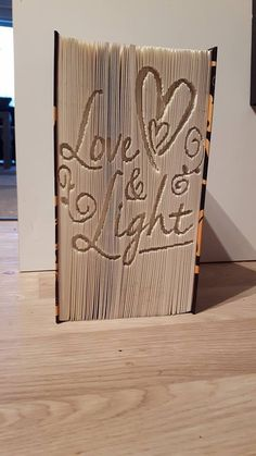 cut and fold book folding pattern Love and Light