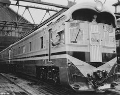 Santa Fe Super Chief at Dearborn Station most likely in very late 1935 or early 1936. These locomotives were built in 1935. They were the original diesel electric locomotives purchased for use on the...