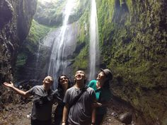 Madakaripura falls.. Happy faces after the pouring water on us!