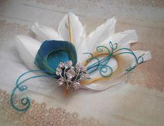 Bridal Peacock Facinator Feather Hair PIece by PeacockPixys, $39.00