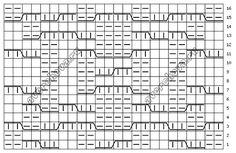 схема узора 705
