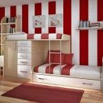 colorfull built in bunk beds for kids