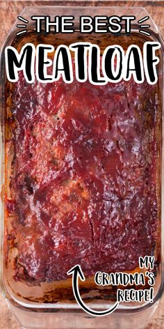 This a classic ground beef meatloaf is the type of recipe you'll want to make again and again. It's easy to make, incredibly tender and holds its shape as a loaf. It's sauce — made with traditional in Classic Meatloaf Recipe Easy, Easy Meatloaf Recipe With Bread Crumbs, Good Meatloaf Recipe, Meat Loaf Recipe Easy, Best Meatloaf, Beef Meatloaf Recipes, Homemade Meatloaf, Meat Recipes, Cooking Recipes
