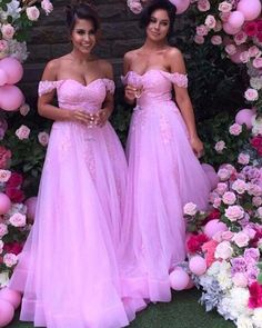 Cheap bridesmaid dresses lace, Buy Quality pink long bridesmaid dress directly from China bridesmaid dresses Suppliers: Elegant Pink Long Bridesmaid Dresses Lace Appliques off Shoulder Bridesmaid Party Gowns Tulle A Line Floor Length custom made Modern Bridesmaid Dresses, Tulle Bridesmaid Dress, Lace Bridesmaid Dresses, Wedding Dresses, Formal Evening Dresses, Elegant Dresses, Sexy Dresses, Prom Dresses, Formal Dresses