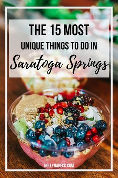 Check out these 15 unique things to do in Saratoga Springs, NY and discover the beauty of Upstate! There's endless options to explore in this city, so come snag these travel tips & add this cool city to your list of travel destinations today. Saratoga Springs Disney, Saratoga Springs New York, Saratoga Springs Resort, Saratoga New York, Travel Tips, Travel Destinations, Travel Ideas, Stuff To Do, Things To Do