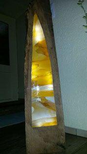 Holzlampe Spitzbogen