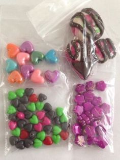 Mixed Acrylic Beads And Fimo Charms Heart Flower Doughnut Cake Food Red Pink