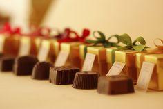 Bombones rellenos de Chocolate