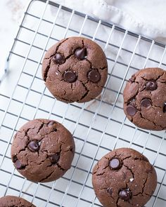 Double Chocolate Peanut Butter Cookies- made with heart-healthy whole grain oat flour. No refined sugars, starches or gums! (vegan, gluten-free   a video on how to make them)