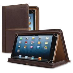 SOLO 11 in. Full Grain Leather Executive Tablet Carrying Case Espresso Brown SOLO 11 in. Tennis Accessories, Computer Accessories, Espresso, 5 Inch And Up, Digital Text, Practical Gifts, Unusual Gifts, All Brands, Ipad Pro
