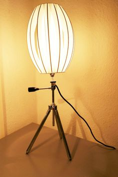 Vintage Tripod Lamp Zenith Camera Tripod, Chrome alluminium