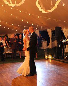 tent + bistro lights