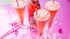Quick and simple, this bright and creamy cocktail tastes like a Strawberry Bellini put on a bikini and decided to dance!