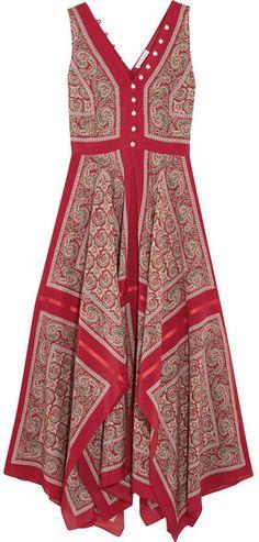 Altuzarra - Clemmie Paisley-print Silk Maxi Dress - Red