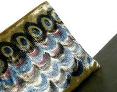 Pochette velluto  pochette dipinta a mano  velluto di BAGSaraGui
