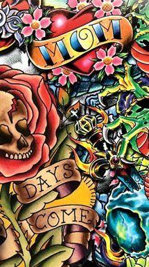 Image detail for ed hardy love kills slowly design - Ed hardy designs wallpaper ...
