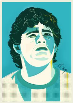Football World Cup Legends / Volume I by Neil Stevens, via Behance
