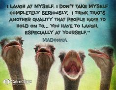 madonna - laugh at yourself