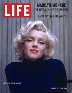 Here, Marilyn Monroe is wearing a popular hairstyle that was worn in the 1950s. It it short and and curled and full of volume.