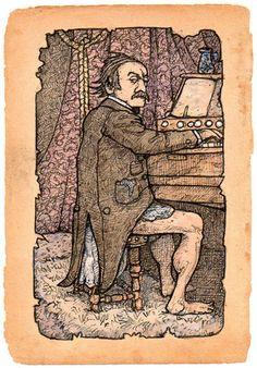 'Sir Bertram Smythe' by Jonny Dixon Illustration Art, Illustrations, Artwork, Art Work, Work Of Art, Auguste Rodin Artwork, Illustration, Illustrators