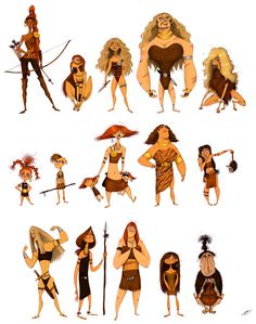 AMAZONS SKETCHES by Olivier SILVEN, via Behance