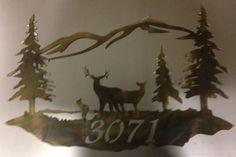 Deer family address plate