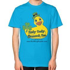 Lucky Ducky Unisex T-Shirt (on man)