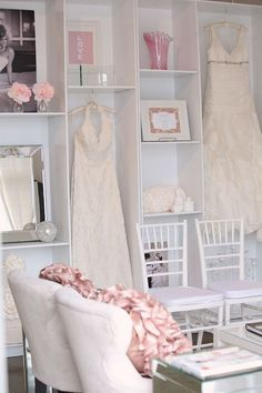 Love this display idea- not just for wedding dresses
