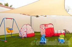 Protecting children's play areas from the harsh UV rays.