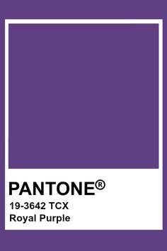 Pantone Royal Purple Pantone Color Chart, Pantone Colour Palettes, Purple Color Palettes, Colour Pallete, Pantone Colours, Colour Chart, Paleta Pantone, Pantone Tcx, Pantone Swatches
