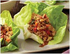 Summer Lettuce Wraps. Healthy Paleo Gluten Free