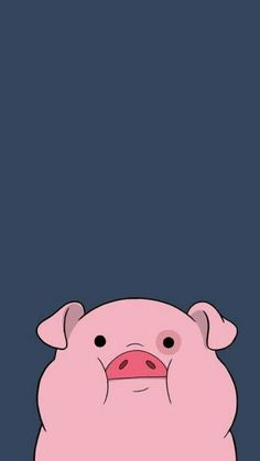 Pig Wallpaper, Funny Phone Wallpaper, Cute Disney Wallpaper, Wallpaper Iphone Disney, Cute Cartoon Wallpapers, Animal Wallpaper, Aesthetic Iphone Wallpaper, We Bare Bears Wallpapers, Character Wallpaper