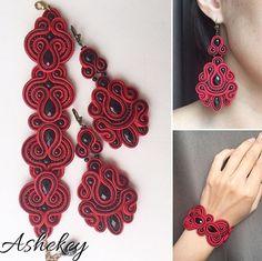Soutache Bracelet, Soutache Jewelry, Boho Jewelry, Beaded Jewelry, Shibori, Soutache Tutorial, Crochet Necklace, Beaded Necklace, Quilling Jewelry