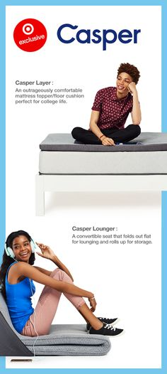 First on the college dorm room list — a comfy crash pad. Pick up the latest in comfort with two exclusive pieces from Casper. Meet the Casper Layer, a portable mattress topper that doubles as a spare bed. Plus, the Casper Lounger, a convertible seat that you can fold up or lay out. Make your student's move to college as comfy as possible at dreamy prices.