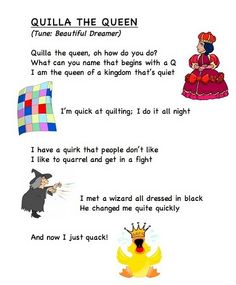 Alphabet letter song Q (words from Frog Street Press). Preschool Songs, Preschool Letters, Learning Letters, Alphabet Activities, Teacher Letters, Alphabet Poem, Letter Song, Abc Songs, Kids Songs