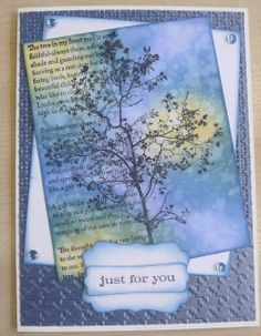 images stampendous tree poem   Posted by Tracey Jackson at 13:30 1 comment: Tree Poem, Scrapbook Cards, Scrapbooking, Fall Cards, Distress Ink, Altered Art, Birthday Cards, Poems, Projects To Try