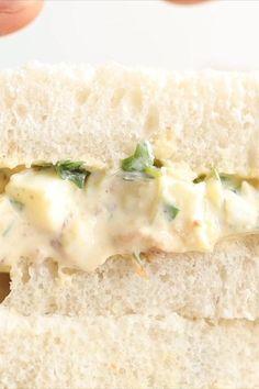 Vegetarian Sandwich Recipes, Easy Sandwich Recipes, Sandwich Fillings, Vegetarian Dinners, Wrap Recipes, Salad Recipes, Mayonnaise Sandwich, Egg Mayonnaise, Egg Mayo Sandwich