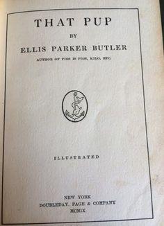 1908 DOG Book THAT PUP Fun Vintage Book | eBay