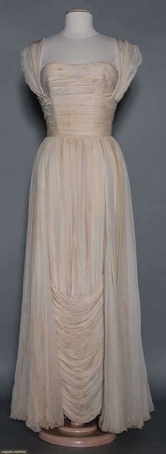Jean Desses Evening Gown, 1950s, Augusta Auctions, May 13, 2015 - Sturbridge, MA, Lot 1016