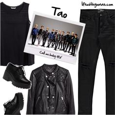 Tao from EXO M Call me baby MV inspired by look Call Me, Tao, Shoe Bag, Polyvore, Boohoo, Inspired, Stuff To Buy, Outfits, Inspiration