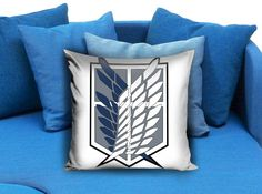 Attack on Titan pillow   These soft pillowcase made of 50% cotton, 50% polyester.  It would be perfect to decorate your home by using our super soft pillow cases on sofa, chair, bench or bed.  Customizable pillow case is both comfortable and durable, improving the quality of your sleep with these comfortable pillow case, take it home now!  Custom Zippered Pillow Cases available in 7 different size (16″x16″, 18″x18″, 20″x20″, 16″x24″, 20″x26″, 20″x30″, 20″x36″)