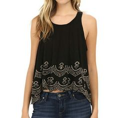 💙Host Pick!💙 Free People Attina Scallop Tank/Top Free people attina scallop tank. Size large. New with a tag. Free People Tops