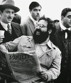 "Francis Ford Coppola and Robert De Niro on the set of ""The Godfather: Part II"" 1974"
