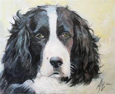 English Springer, Springer Spaniel, Fine Art Gallery, Dog Cat, Paintings, Canvas, Dogs, Artist, Animals