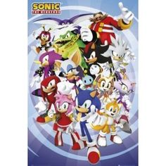 Posters: Sonic The Hedgehog Poster - Cast (36 x 24 inches)
